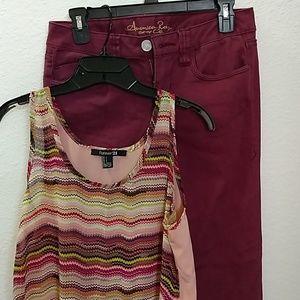 Denim - American Rag jeans and Rue 21 top